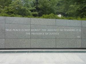 King Memorial True Peace is Justice