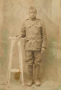 Jim in his Army uniform, circa 1918.