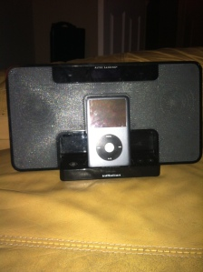 iPod and speakers