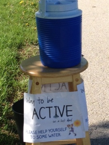 Water cooler on the walking trail.