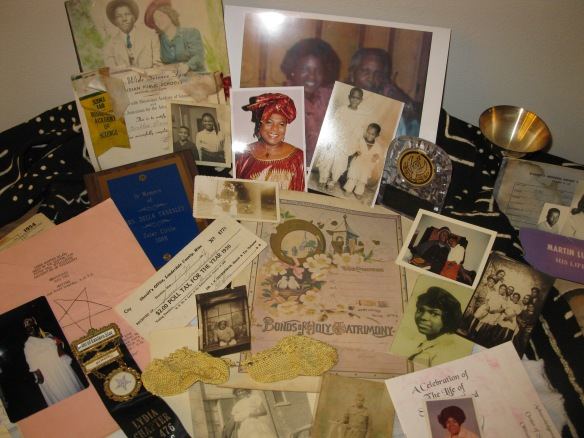 A collage of some of the pictures and other documents that I found.