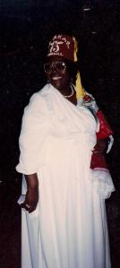 Here is Auntie, all decked out in her Order of the Eastern Star regalia.