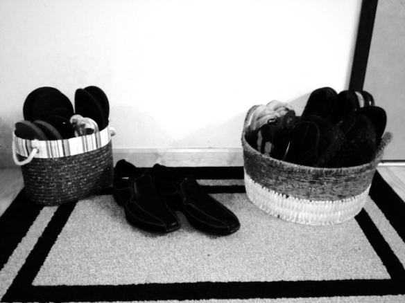 No Shoes in the House! Film Noir style
