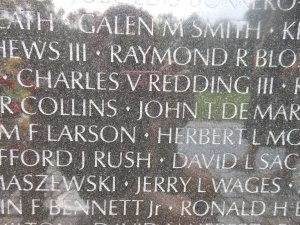 My cousin's name on the Vietnam War Memorial