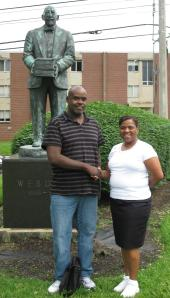 Jesse & Da Hype 1. Standing in front of W. E. B. Du Bois statue at Fisk University