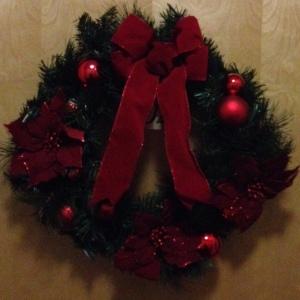 Christmas wreath on my front door