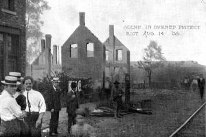 A scene from the Springfield Race Riot