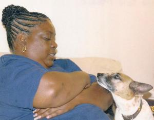 "Miss Maxie and my mother, also known as ""the dog whisperer."""